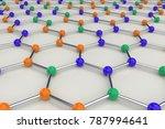 graphene atomic structure on... | Shutterstock . vector #787994641