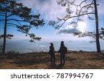 lover women and men asians... | Shutterstock . vector #787994767