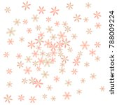 cute floral pattern with simple ... | Shutterstock .eps vector #788009224