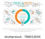 line illustration of freshwater ... | Shutterstock .eps vector #788013034