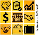 business vector icon set... | Shutterstock .eps vector #788014099