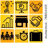 business vector icon set... | Shutterstock .eps vector #788014105