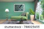 interior living room. 3d... | Shutterstock . vector #788025655