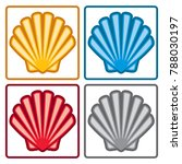 vector sea shell icons isolated ... | Shutterstock .eps vector #788030197