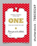 first birthday invitation for... | Shutterstock .eps vector #788030269