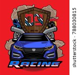 Sport Car Logo Illustration....