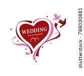 vector logo wedding | Shutterstock .eps vector #788030881