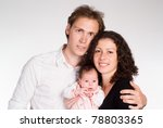 happy young family with ... | Shutterstock . vector #78803365