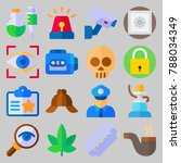 icon set about crime... | Shutterstock .eps vector #788034349