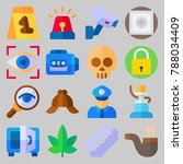 icon set about crime... | Shutterstock .eps vector #788034409
