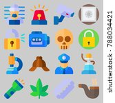 icon set about crime... | Shutterstock .eps vector #788034421