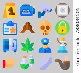 icon set about crime... | Shutterstock .eps vector #788034505