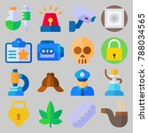 icon set about crime... | Shutterstock .eps vector #788034565