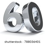 60 silver isolated 3d rendering | Shutterstock . vector #788036401