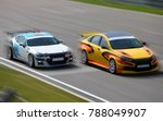 two race cars racing at high... | Shutterstock . vector #788049907