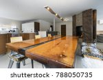 large kitchen and antique wood... | Shutterstock . vector #788050735