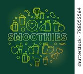 smoothies vector green round... | Shutterstock .eps vector #788053564