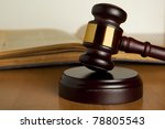 gavel and old book | Shutterstock . vector #78805543