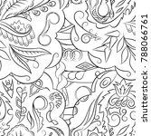 seamless mehndi vector pattern. ... | Shutterstock .eps vector #788066761