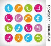 doodle arrow icons in color... | Shutterstock .eps vector #788069701