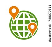 earth map marker icon   travel... | Shutterstock .eps vector #788070511