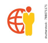 global businessman icon  ... | Shutterstock .eps vector #788071171