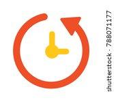 running time icon   vector clock   Shutterstock .eps vector #788071177