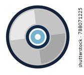 dvd icon   vector cd disc | Shutterstock .eps vector #788071225