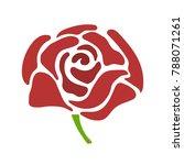 vector flower rose     Shutterstock .eps vector #788071261