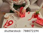 handsome romantic guy making... | Shutterstock . vector #788072194
