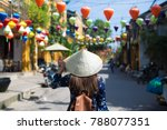 tourist woman is wearing non la ... | Shutterstock . vector #788077351
