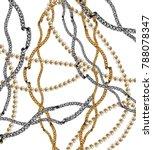 golden chain backgound  | Shutterstock . vector #788078347