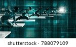 disruptive technology and... | Shutterstock . vector #788079109