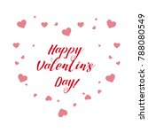 vector card happy valentine's ... | Shutterstock .eps vector #788080549