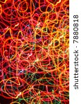 Abstract colorful Christmas lights blur background. - stock photo
