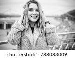 young beautiful plus size girl... | Shutterstock . vector #788083009