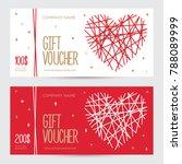 gift voucher with heart for...   Shutterstock .eps vector #788089999