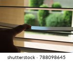 someone is opening curtain of... | Shutterstock . vector #788098645