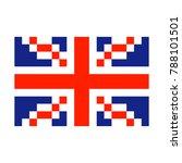 great britain pixel flag art... | Shutterstock .eps vector #788101501