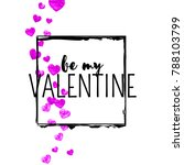 valentines day card with pink...   Shutterstock .eps vector #788103799