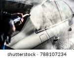 car cleaning. wash car with... | Shutterstock . vector #788107234