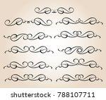set of decorative elements.... | Shutterstock .eps vector #788107711