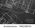 mechanical engineering drawing. ... | Shutterstock .eps vector #788108941