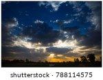 twilight sky in thailand   Shutterstock . vector #788114575