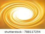 vector light ocher whirl ripple ... | Shutterstock .eps vector #788117254