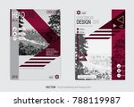 a cover design for a catalog or ... | Shutterstock .eps vector #788119987