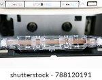 vintage audio tape cassette | Shutterstock . vector #788120191