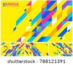 modern diagonal abstract... | Shutterstock .eps vector #788121391