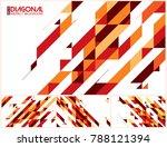 modern diagonal abstract... | Shutterstock .eps vector #788121394