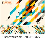 modern diagonal abstract... | Shutterstock .eps vector #788121397